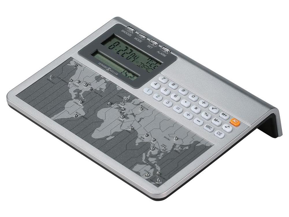 HOWARD MILLER CLOCK CO - Atlas World Clock & Calculator
