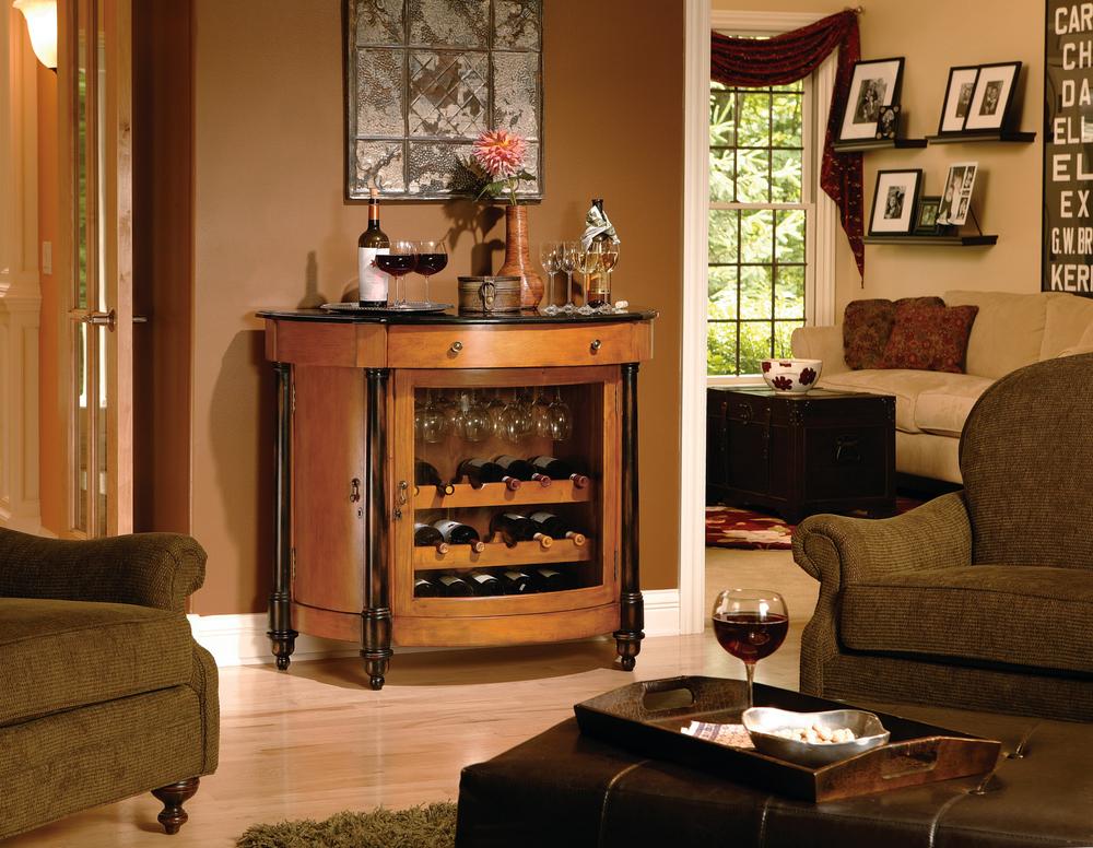 Howard Miller Clock - Merlot Valley Wine Cabinet