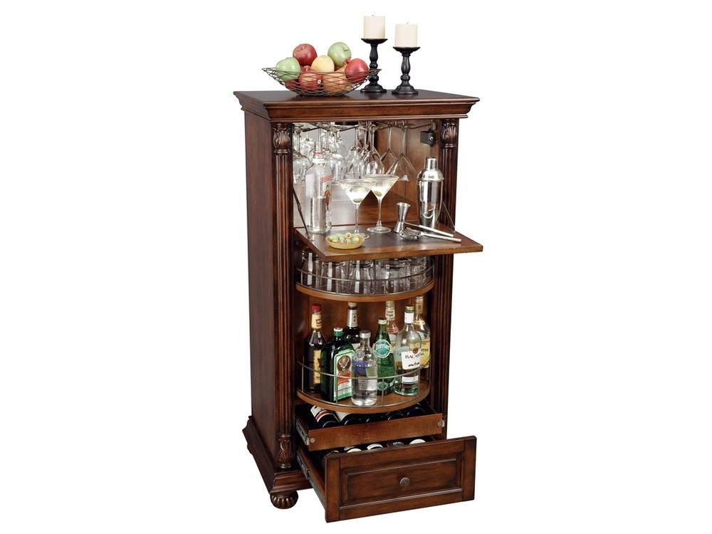 Howard Miller Clock - Cognac Wine Cabinet