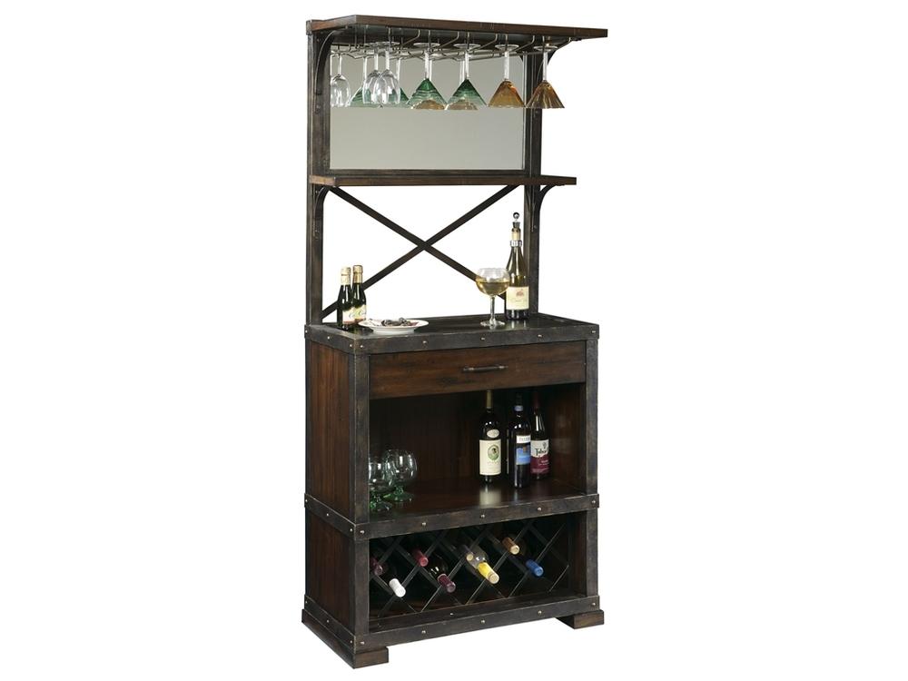 Howard Miller Clock - Red Mountain Wine Cabinet