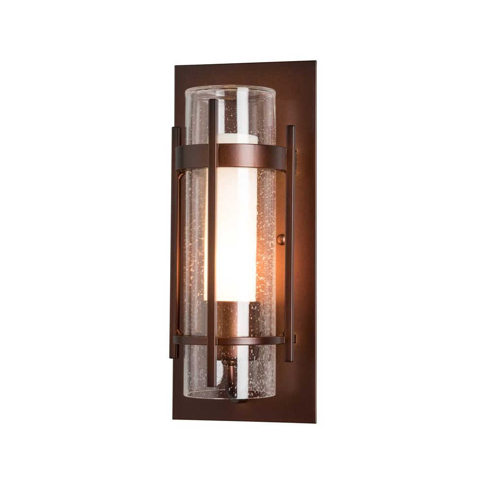 Hubbardton Forge - Banded Seeded Glass Small Outdoor Sconce