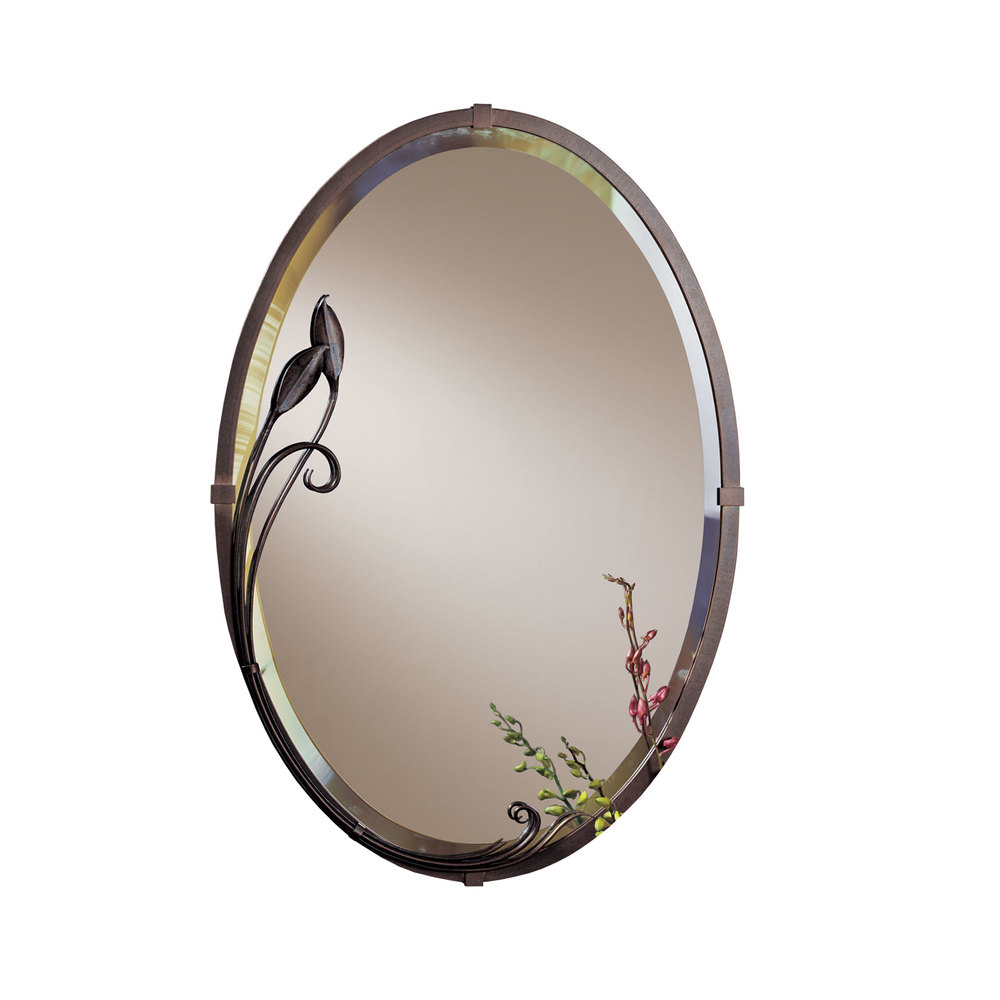 Hubbardton Forge - Beveled Oval Mirror with Leaf