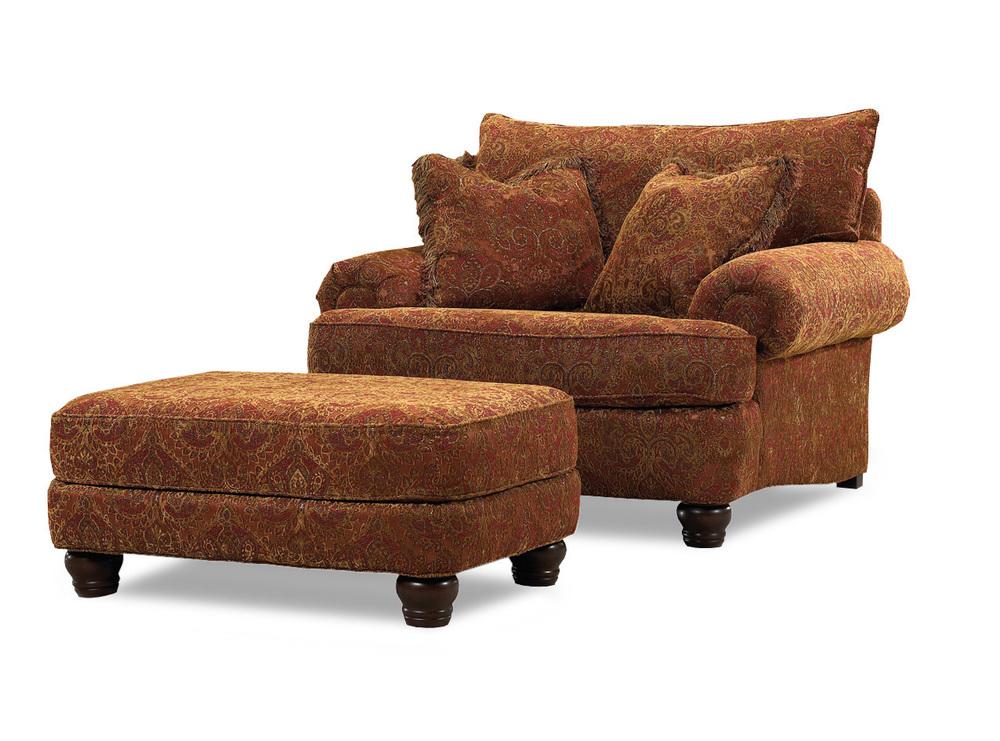 Huntington House - Stratford Chair and Ottoman