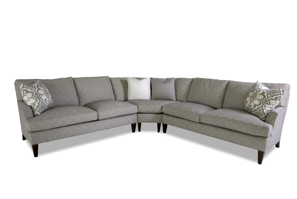 Huntington House - Timeless Transitional Round Corner Sectional