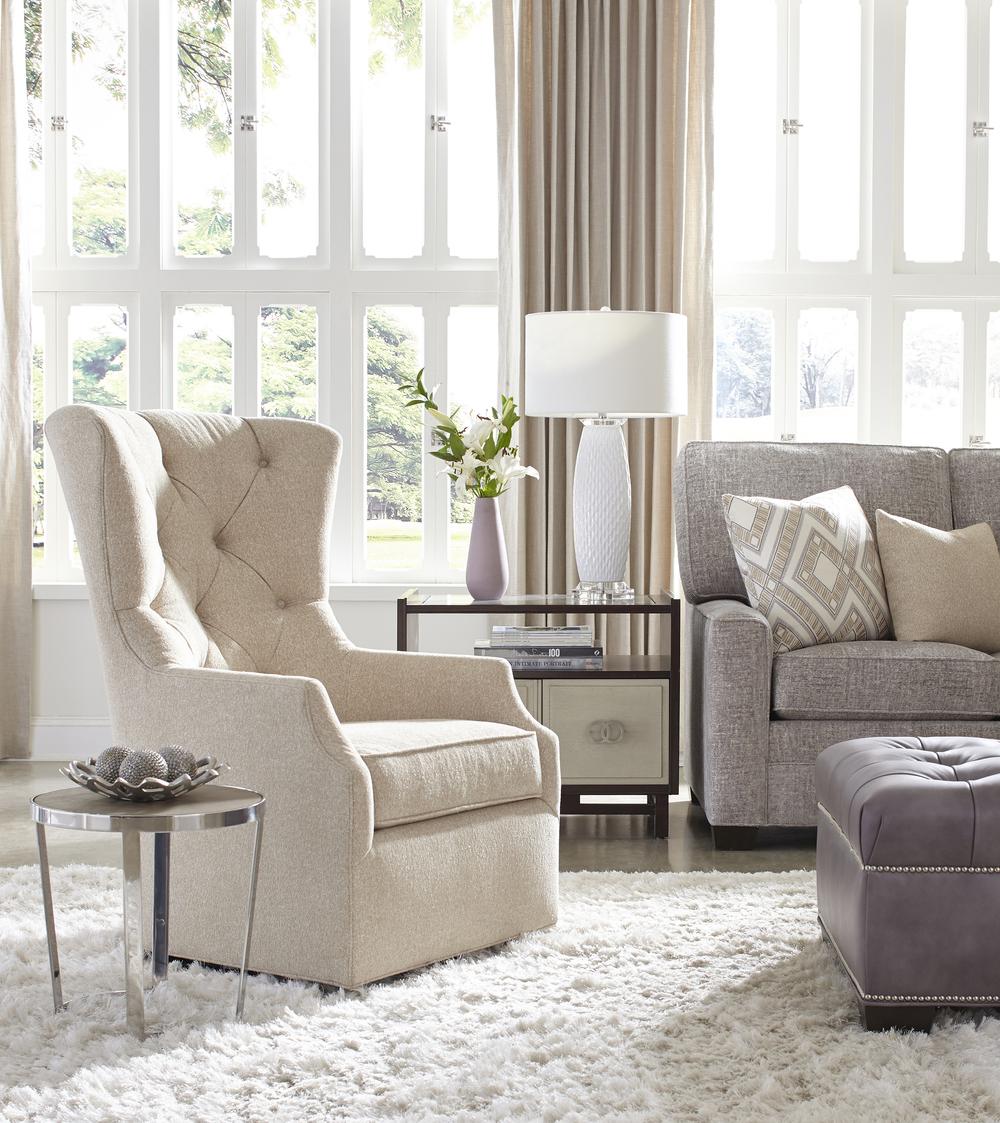 Huntington House - Cora Swivel Chair