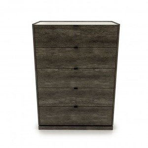 Thumbnail of Huppe - Five Drawer Chest w/ Lacquered Glass
