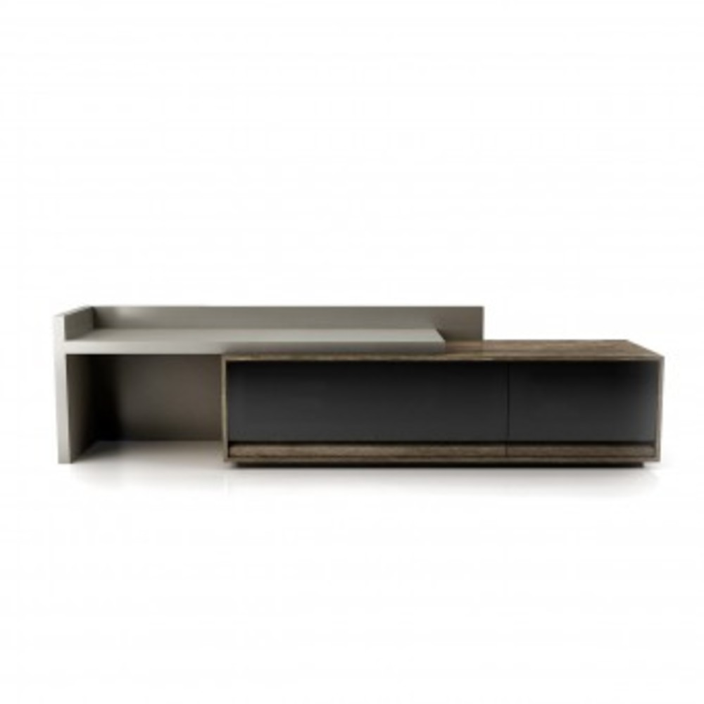 Huppe - Media Base and Left Lacquered Sliding Top