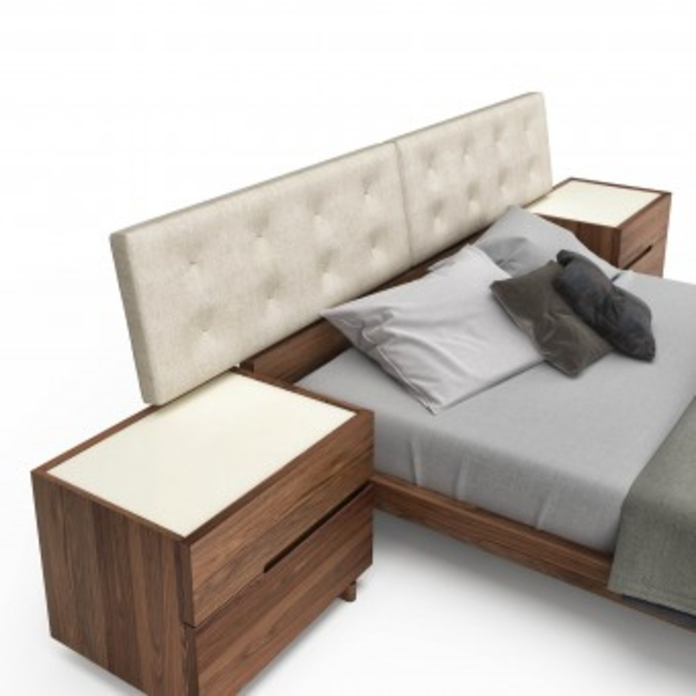 Huppe - King Bed w/ Panel Support