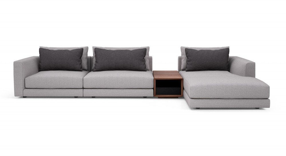 Huppe - Edward Sectional with Right Arm Facing Chaise and Center Table