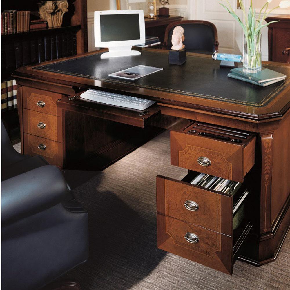 Hurtado - Albeniz Executive Desk with Leather Top