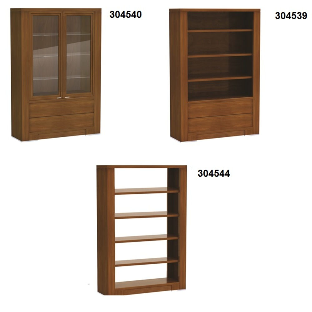 Hurtado - Even Bookcase with Drawers