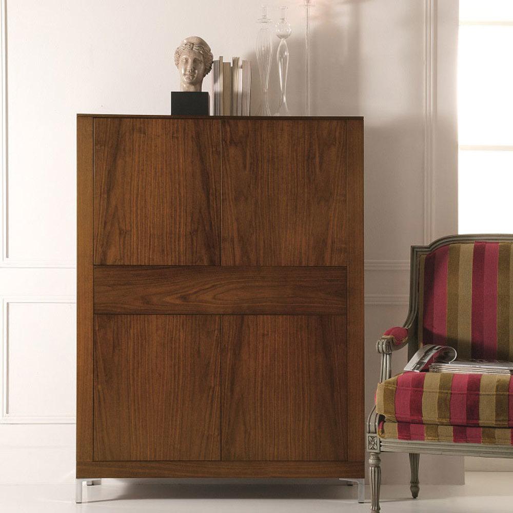 Hurtado - Ados Bookcase with Doors