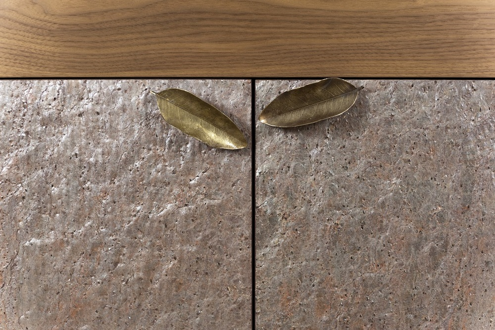 Hurtado - Coral Credenza with Stone on Front of Doors