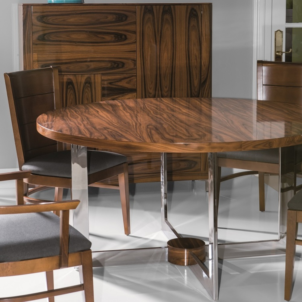 Hurtado - Ados Round Dining Table with Wood Fixed Top