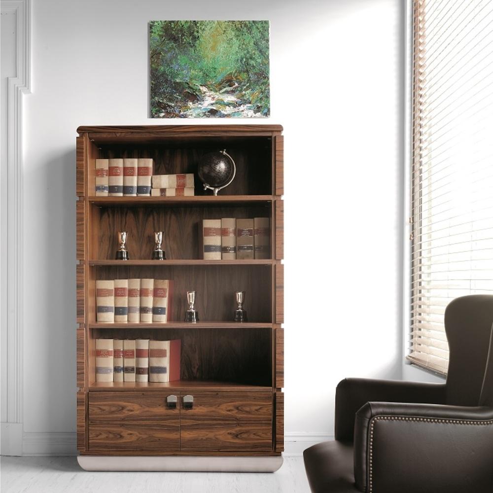 Hurtado - Mon Bookcase with Metal Base