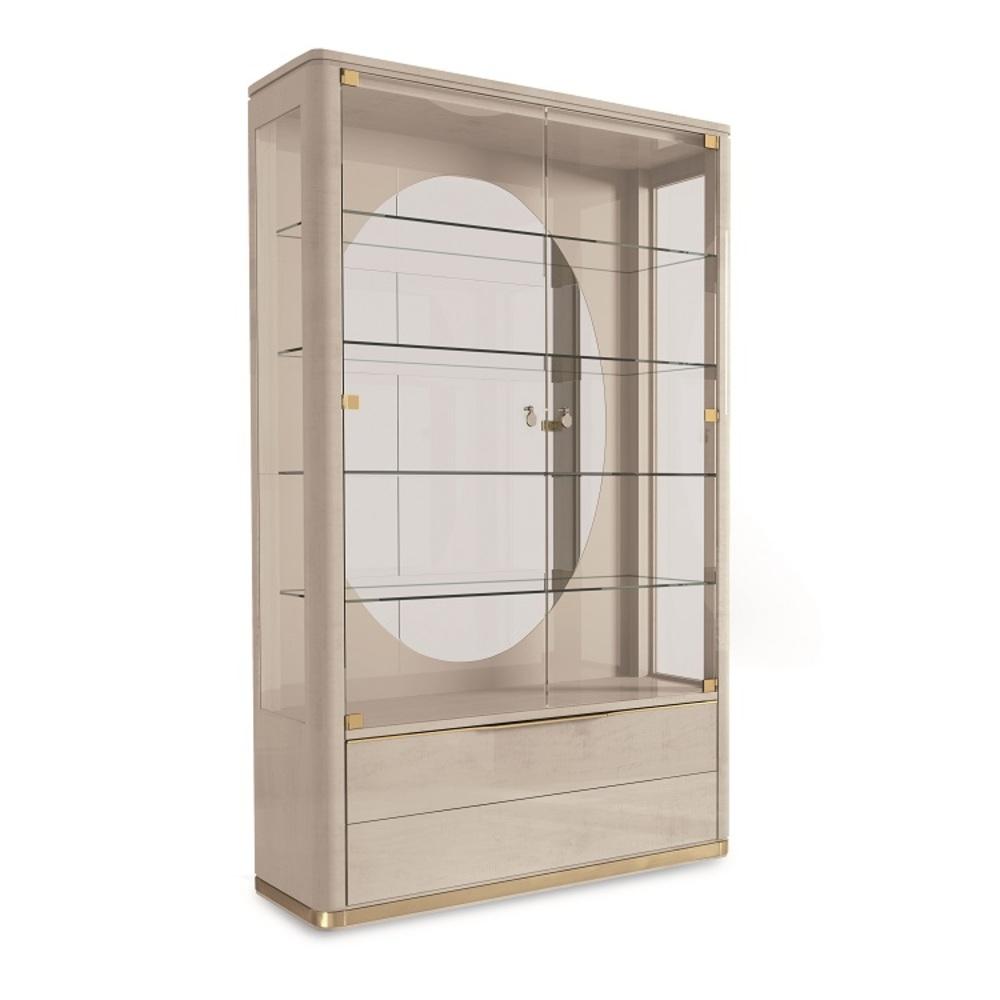Hurtado - Santa Barbara Display Cabinet with Wooden Front