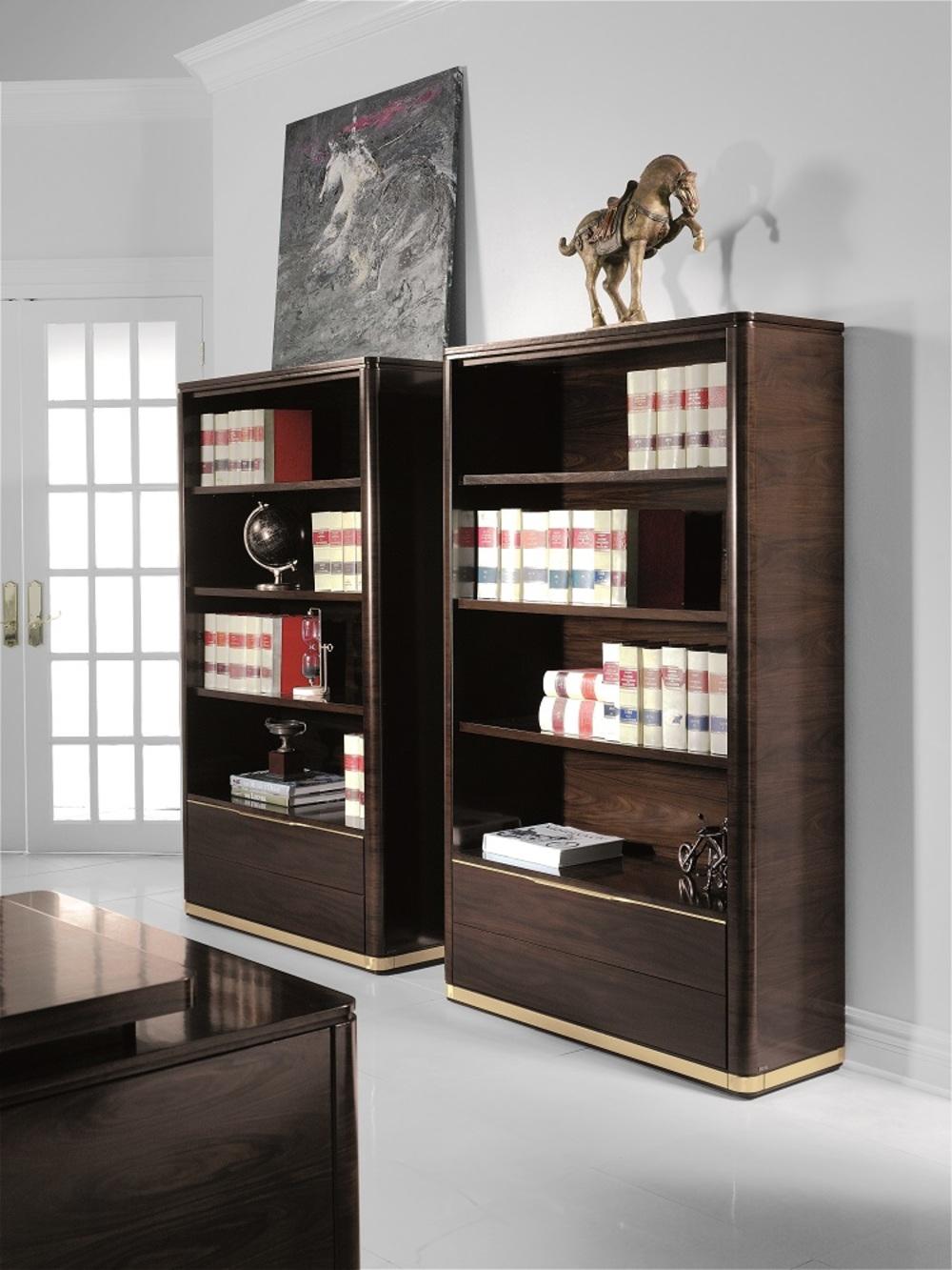 Hurtado - Santa Barbara Bookcase with Wooden Front