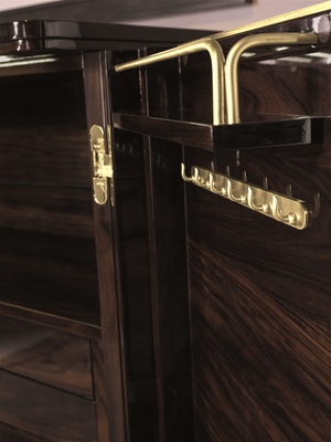 Thumbnail of Hurtado - Santa Barbara Jewelry Armoire with Wooden Front