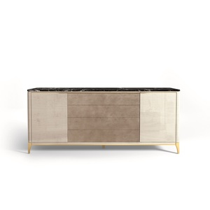 Thumbnail of Hurtado - Soho Credenza with Marble & Leather Front