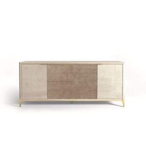 Thumbnail of Hurtado - Soho Credenza with Wooden Top & Leather Front