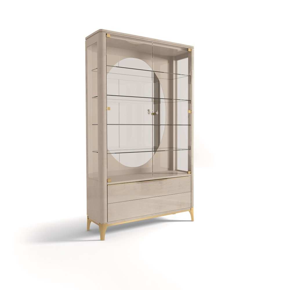 Hurtado - Soho Display Cabinet with Wooden Front