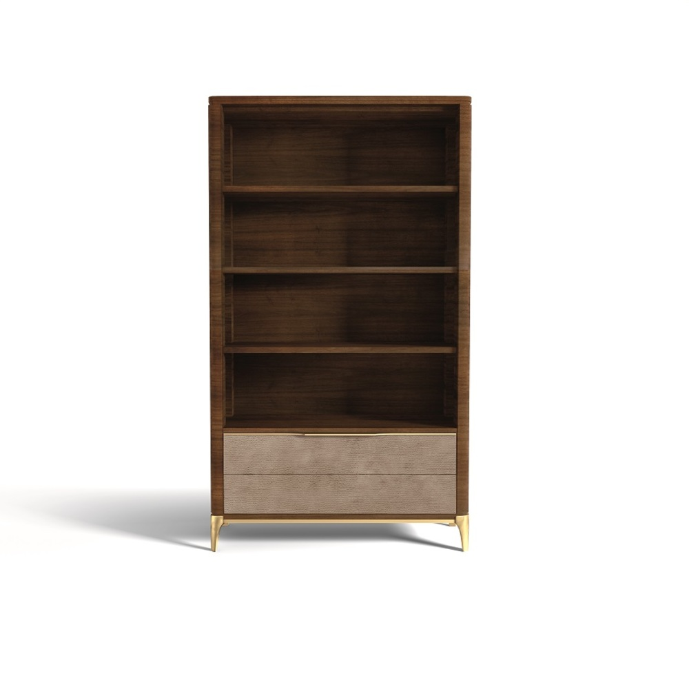 Hurtado - Soho Bookcase with Leather Front