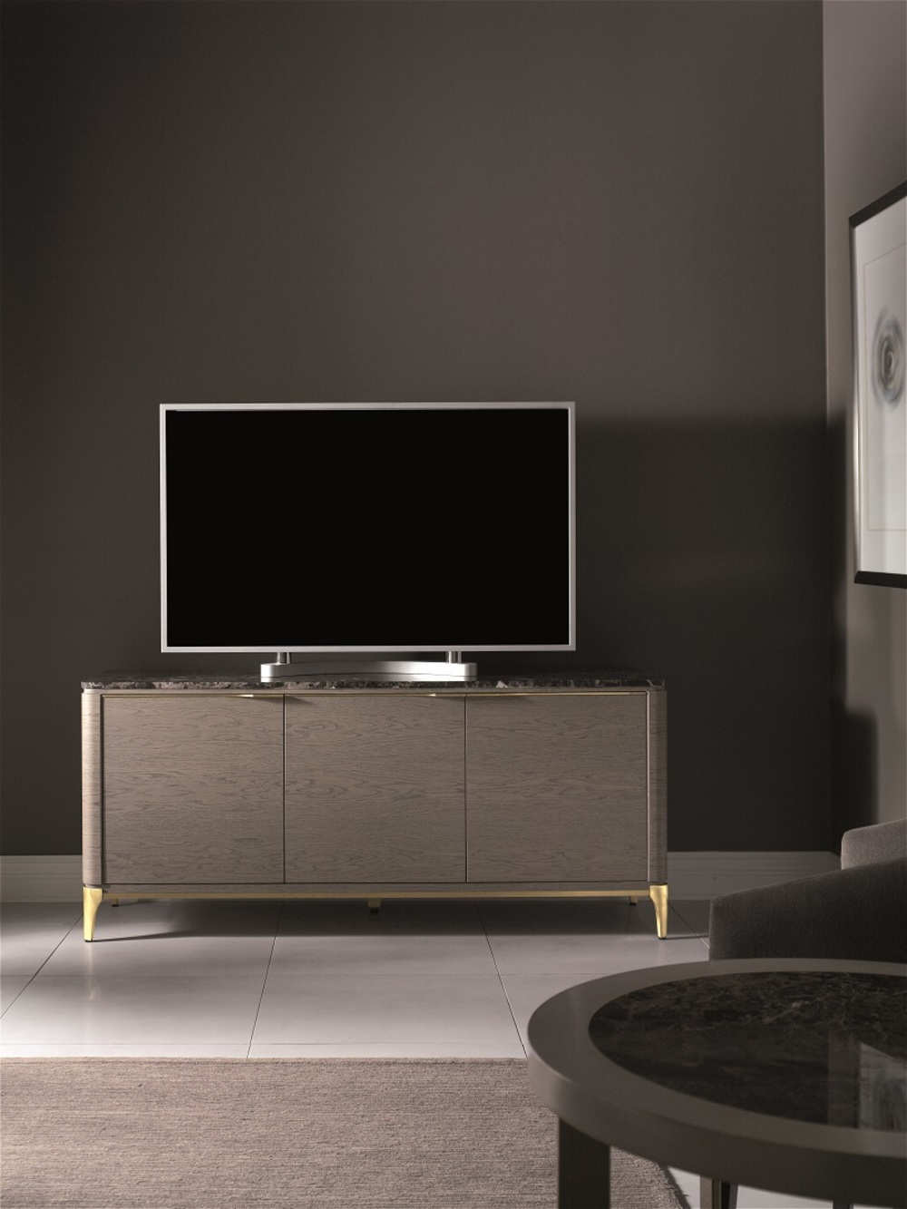 Hurtado - Soho Credenza with Marble & Wooden Front