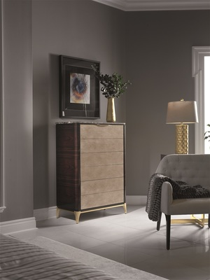 Thumbnail of Hurtado - Soho Chiffonier with Marble & Leather Front