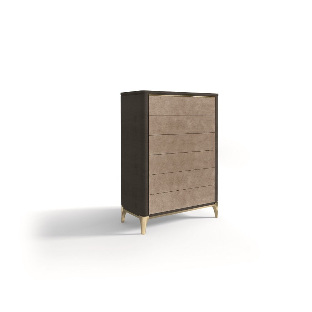Hurtado - Soho Chiffonier with Wooden Top & Leather Front