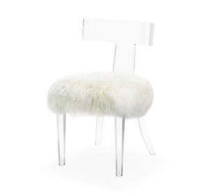 Thumbnail of Interlude Home - Tristan Klismos Dining Chair, Ivory Sheep Skin