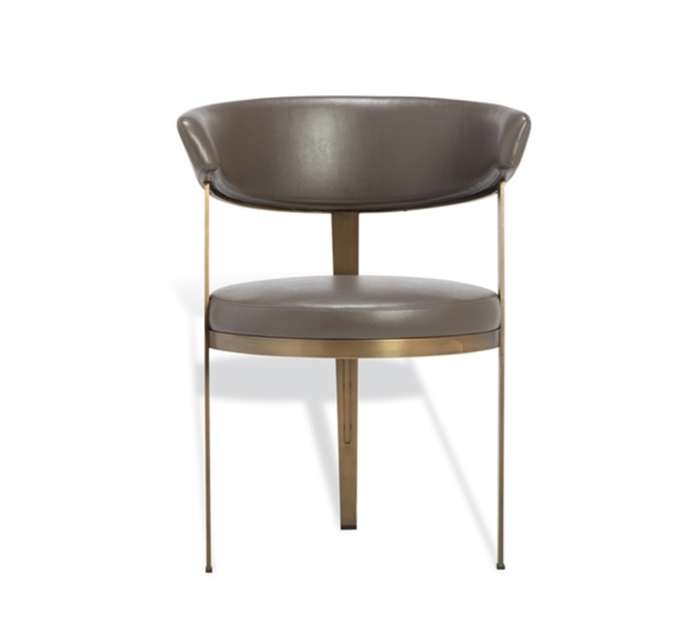 Interlude Home - Adele Dining Chair, Gray