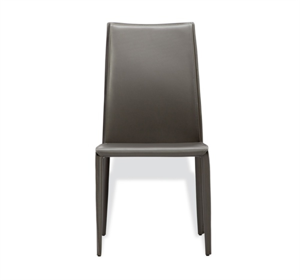 Interlude Home - Jada High Back Dining Chair, Gray