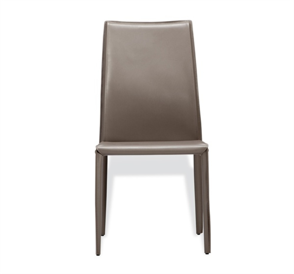 Interlude Home - Jada High Back Dining Chair, Taupe