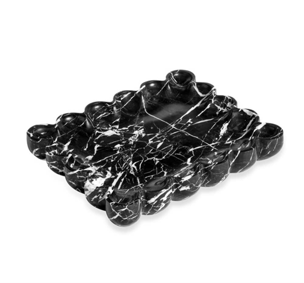 Interlude Home - Bliss Scalloped Tray, Black