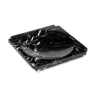 Thumbnail of Interlude Home - Haven Large Marble Candy Dish, Black