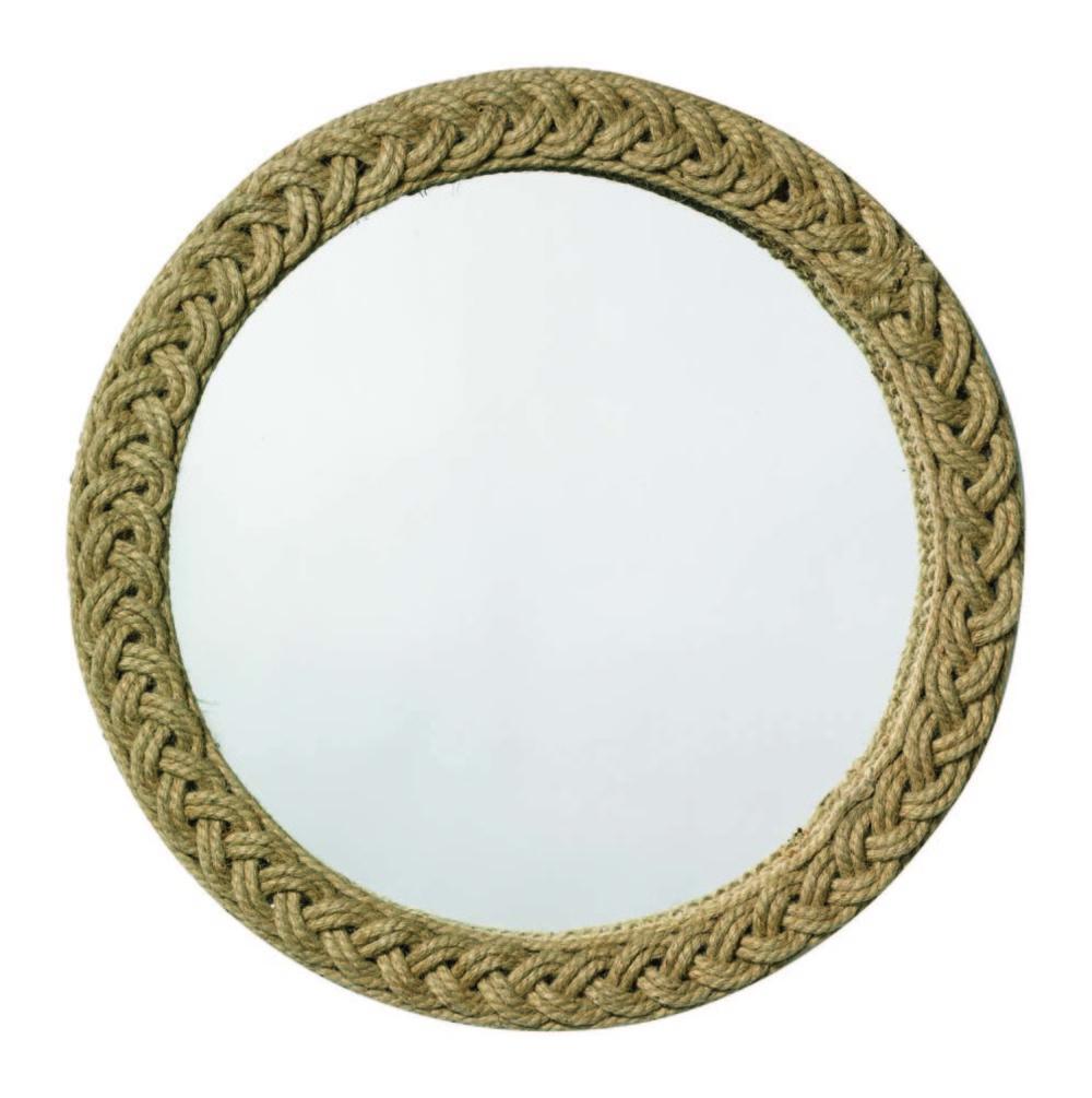 Jamie Young - Braided Round Jute Mirror
