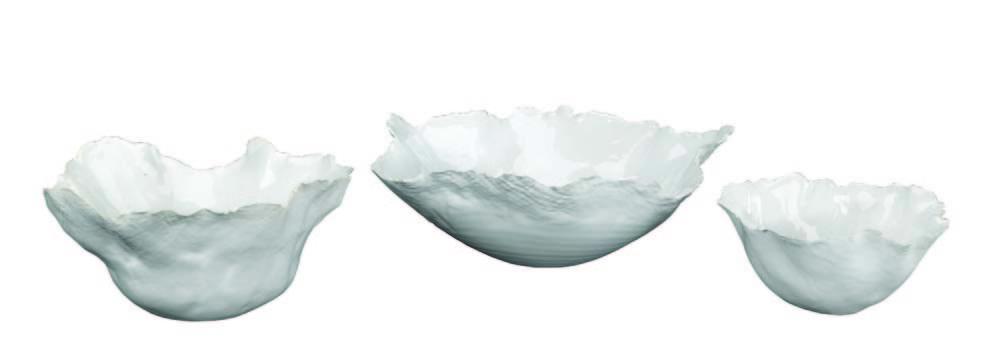 Jamie Young - Fleur Ceramic Bowls, Set/3