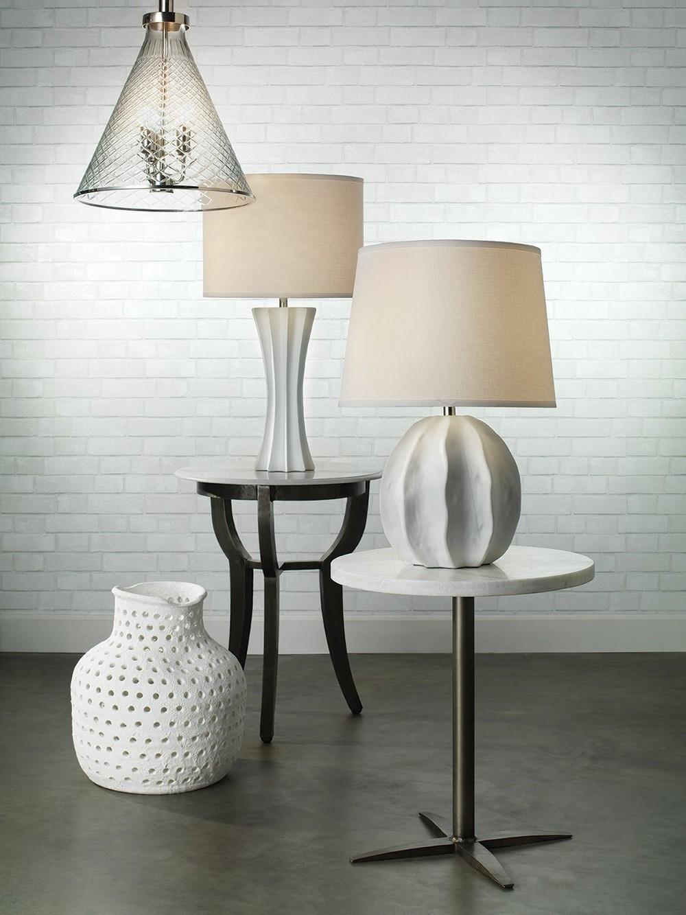Jamie Young - Porous Matte White Vase