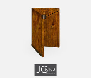 Thumbnail of Jonathan Charles - Country Walnut Semicircular Rectracting Side Table