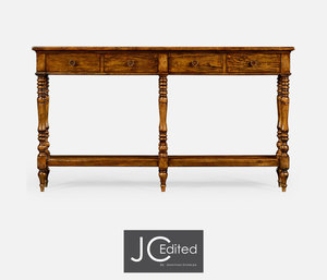 Thumbnail of Jonathan Charles - Country Walnut Parquet Double Console Table