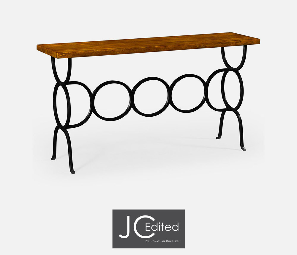 Jonathan Charles - Country Walnut Console Table