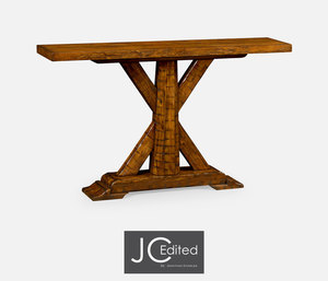 Thumbnail of Jonathan Charles - Country Walnut Rectangular Console Table