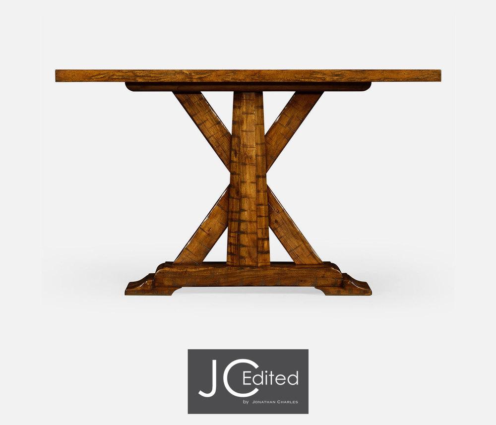 Jonathan Charles - Country Walnut Rectangular Console Table