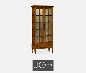 Thumbnail of Jonathan Charles - Plank Country Walnut Tall Glazed Bookcase