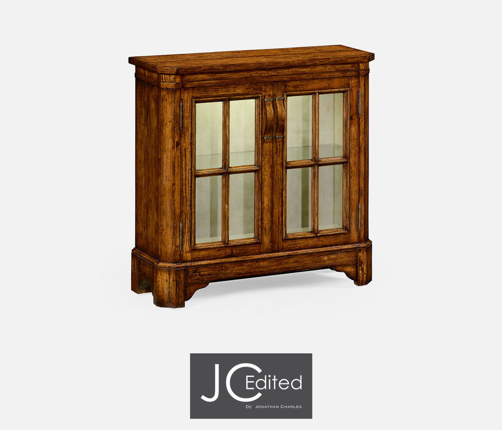 Jonathan Charles - Plank Country Walnut Low Bookcase