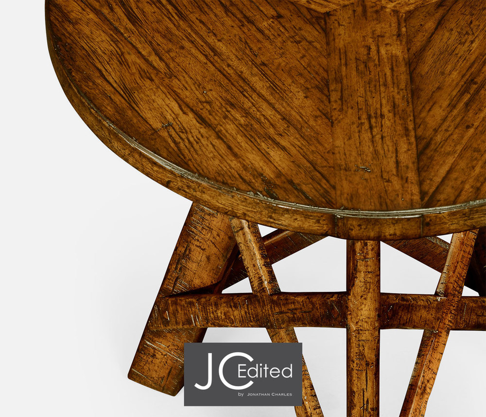 Jonathan Charles - Country Walnut Rustic Lamp Table