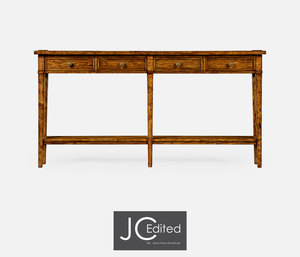 Thumbnail of Jonathan Charles - Country Walnut Four Drawer Console Table