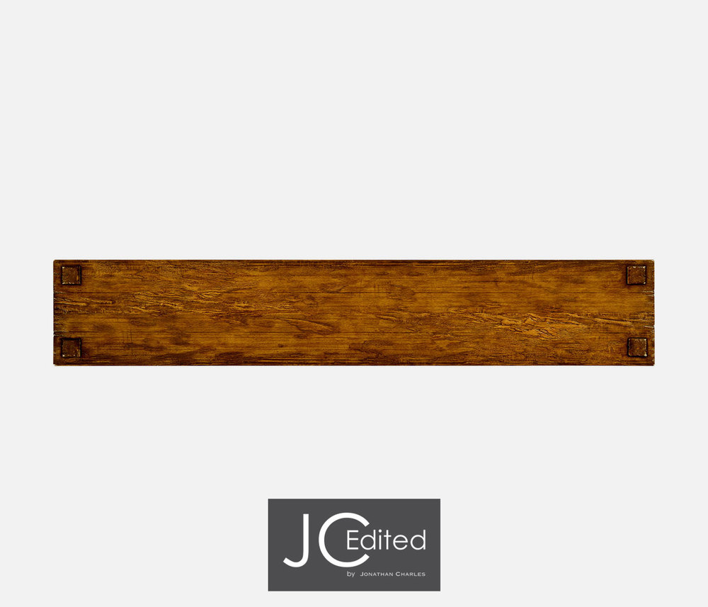 Jonathan Charles - Country Walnut Four Drawer Console Table