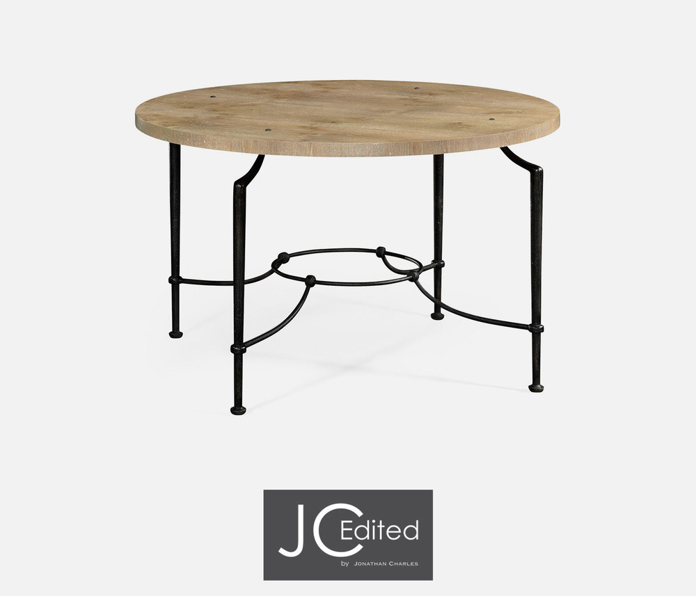 Jonathan Charles - Round Center Table with Iron Base