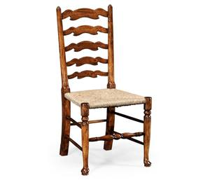 Thumbnail of Jonathan Charles - Walnut Country Ladder Back Side Chair